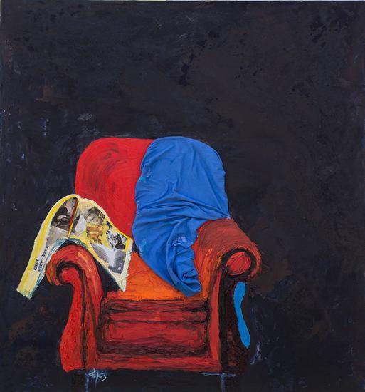 Το Πορτραίτο ενός Καλλιτέχνη-Μεικτή Τεχνική σε Καμβά-140χ150-